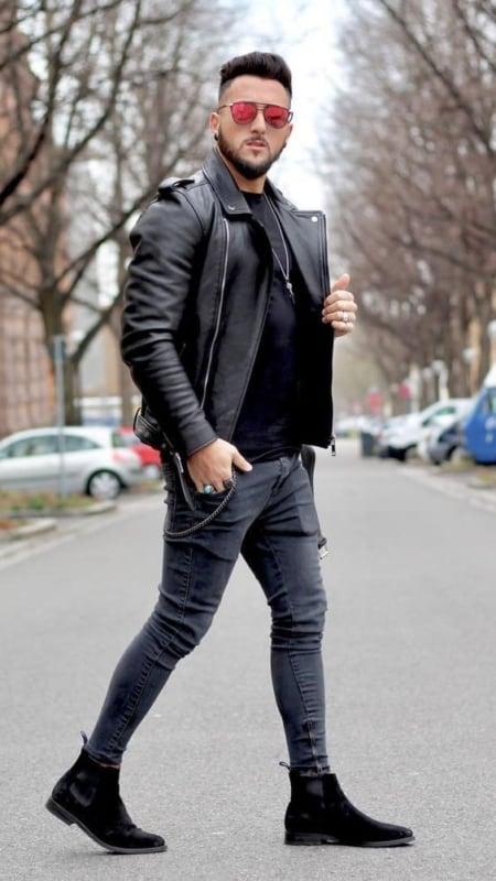 linda jaqueta de couro