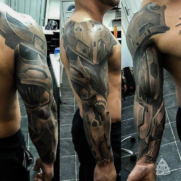 modelo de Tatuagem Braço Mecânico 3d