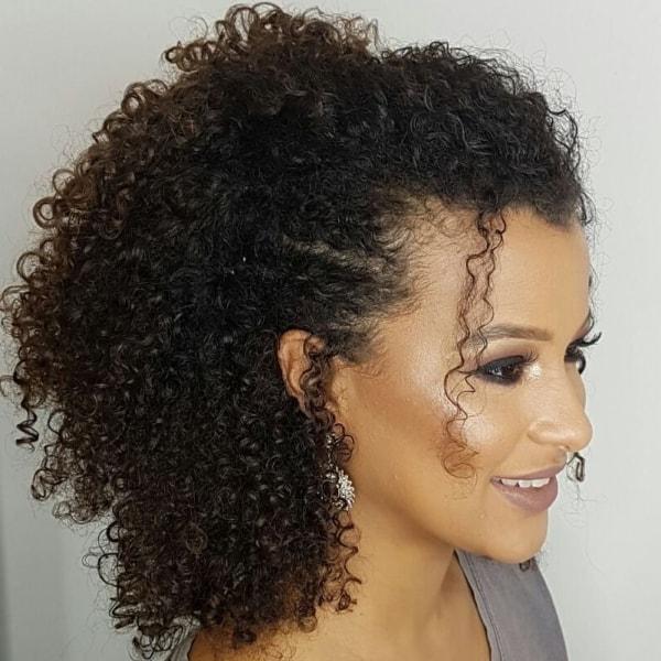 penteado para cabelos crespos 45