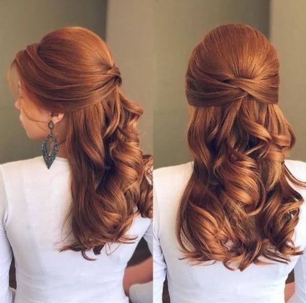 penteado para madrinhas cabelo médio 15