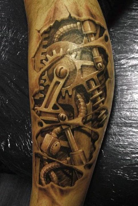 tatoo discreta braço mecânico