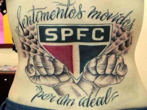 tatuagem São Paulo nas costas grande