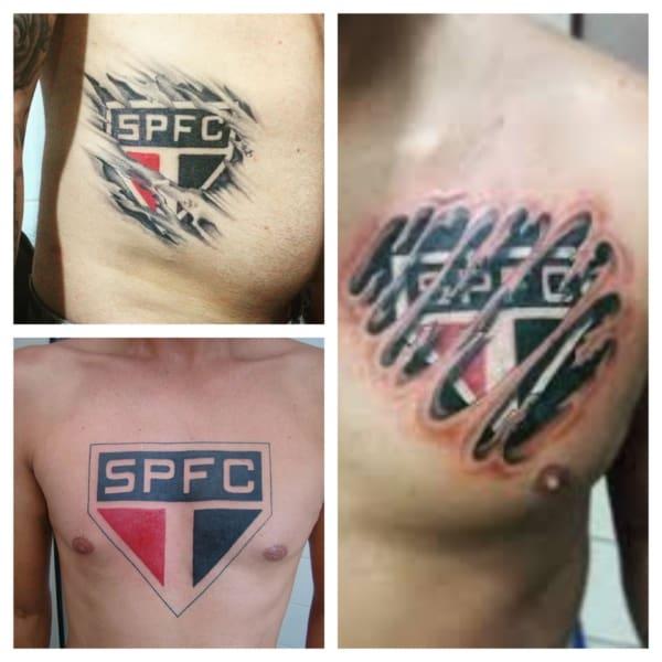 tatuagem do São Paulo