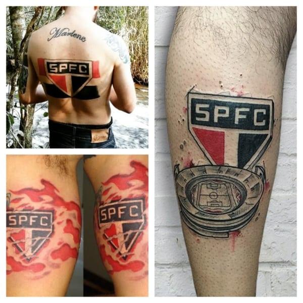 tatuagem do SPFC