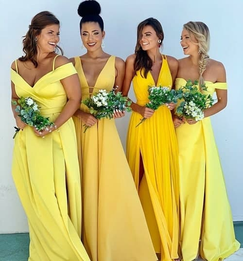 vestido amarelo para madrinha casamento 77