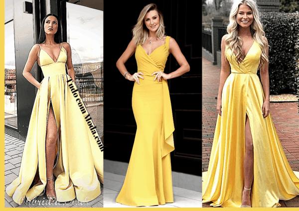 vestido amarelo para madrinha casamento 78