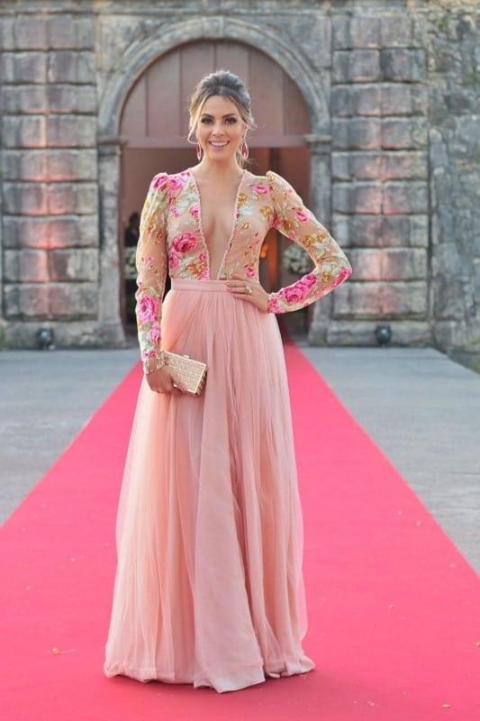 vestido bridesmaid com manga 96