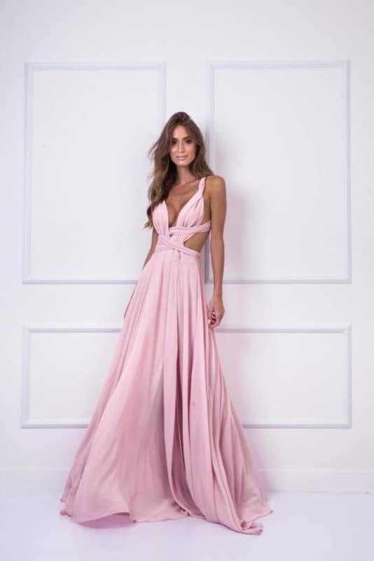 vestido bridesmaid tons pastéis 70