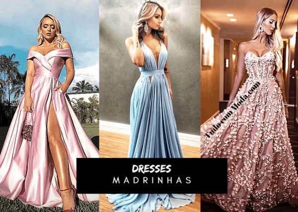 Vestido de madrinha de casamento – 130 opções e estilos lindos!