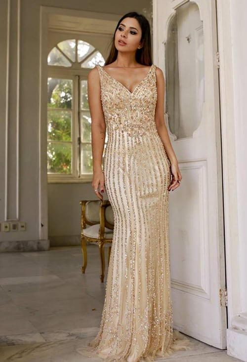 vestido dourado bridesmaid 44