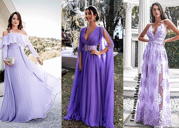 vestido madrinha cor lilás 45