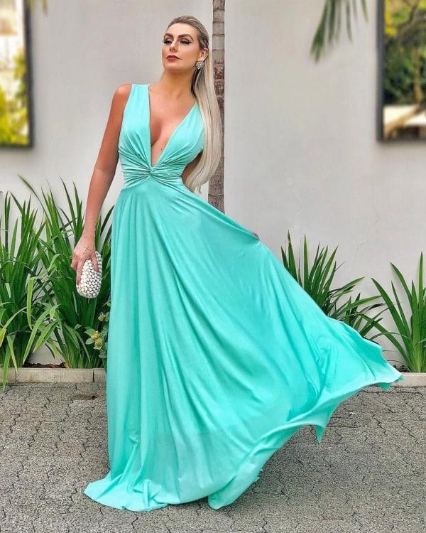 vestido madrinha de casamento azul 34