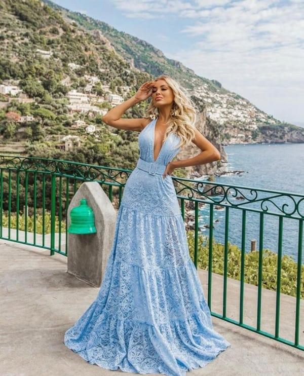 vestido madrinha de casamento azul serenity 30