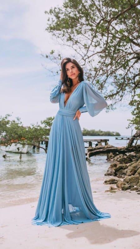 vestido madrinha de casamento azul serenity 31
