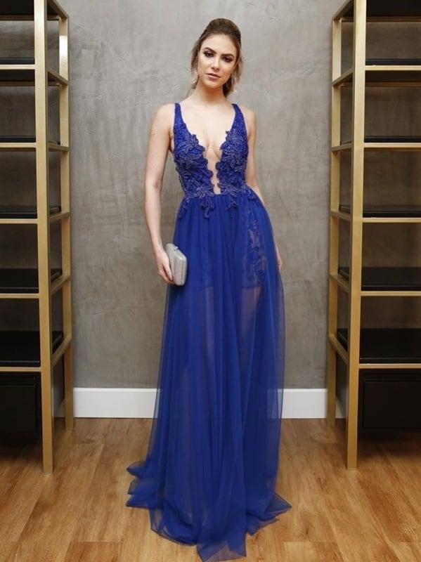 vestido madrinha decasamento azul royal 18