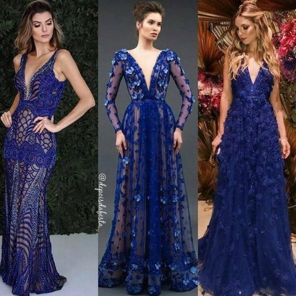 vestido para madrinhas cor azul 14