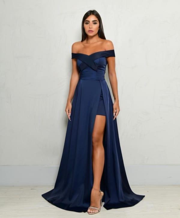 vestido para madrinhas cor azul 15
