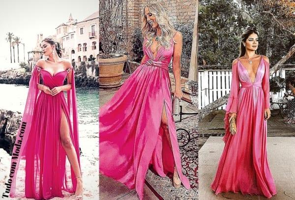 vestido rosa para madrinhas 53