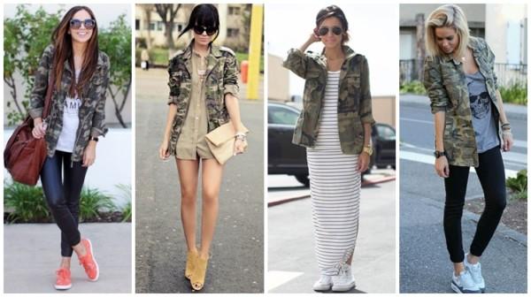 Jaqueta Camuflada Feminina ➞ +72 Modelos e Looks Incríveis!