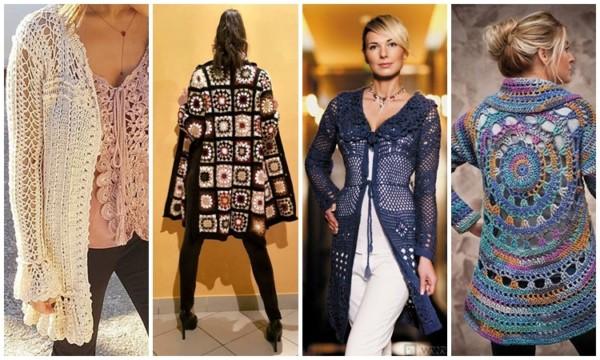 modelos de casaco de crochê