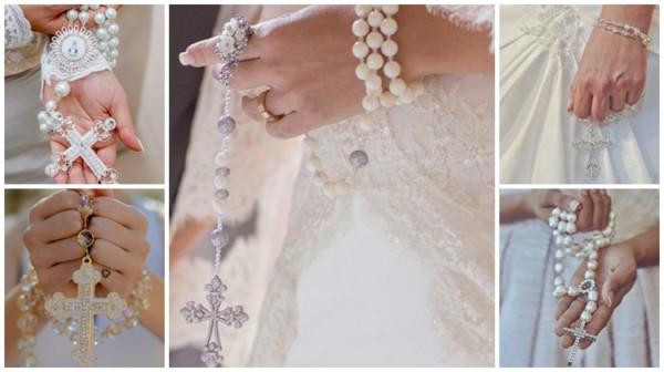 modelos de terço para noiva