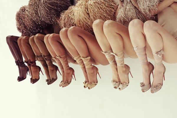 sapatos cor nude