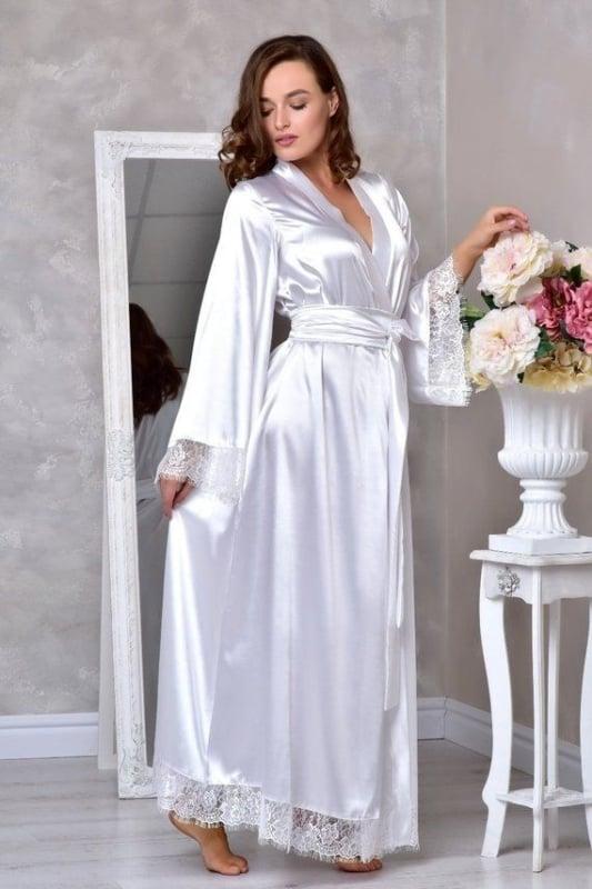 robe de noiva longo com detalhes em renda branca
