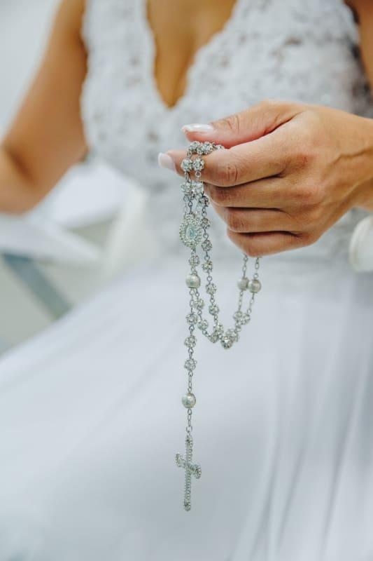 terço de prata para noiva