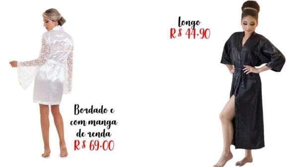 modelos e preços de robe de noiva