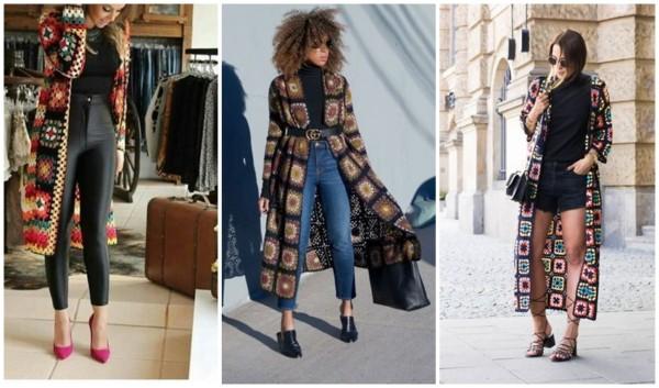 modelos de casaco de crochê square