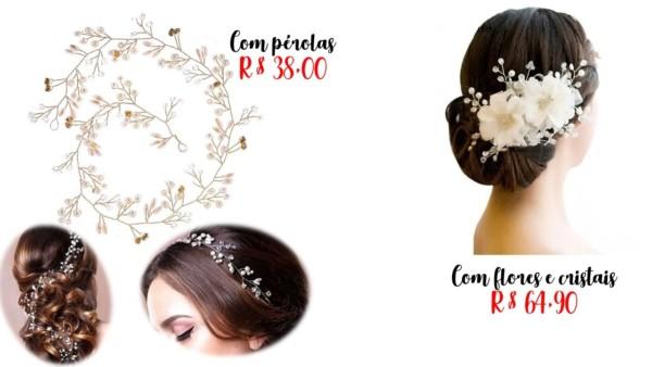 onde comprar arranjos de cabelo para noiva