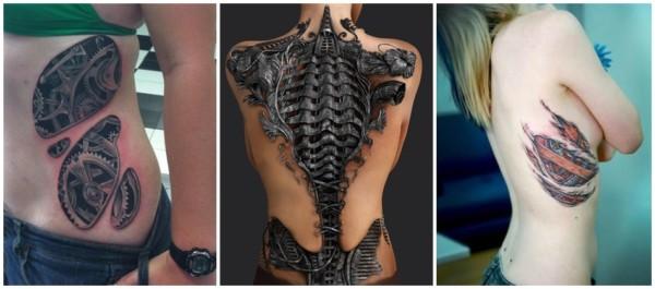 tatuagem feminina biomecânica
