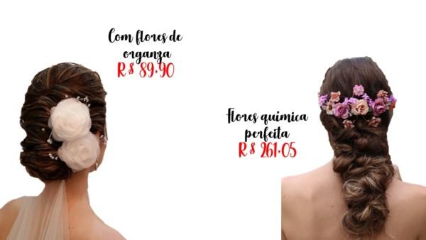 modelos e dicas de onde comprar arranjos de cabelo para noiva
