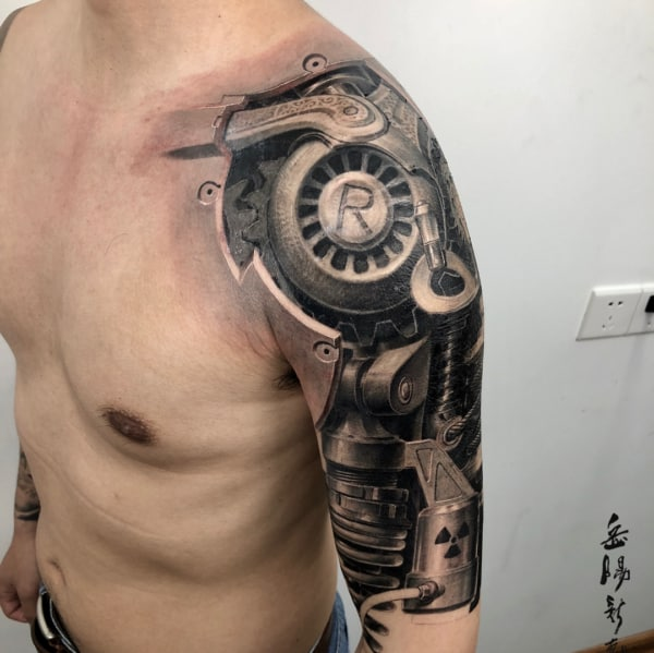 tatuagem 3D no ombro