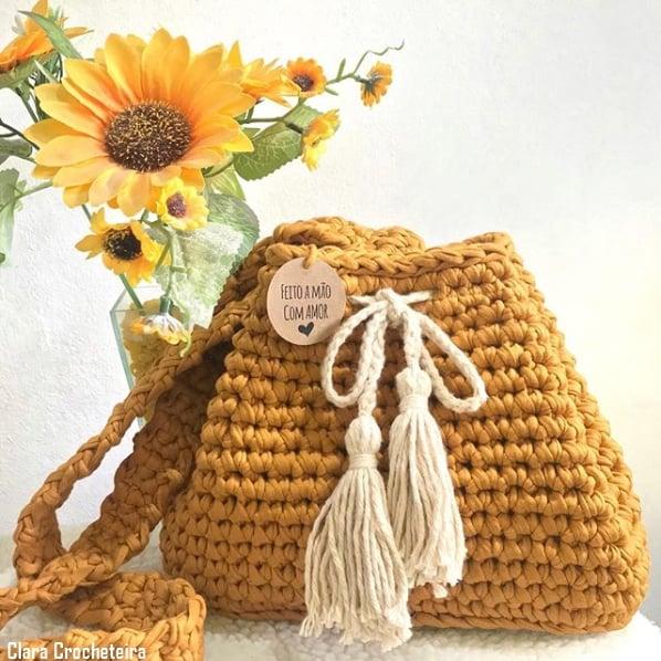 bolsa artesanal estilo saco
