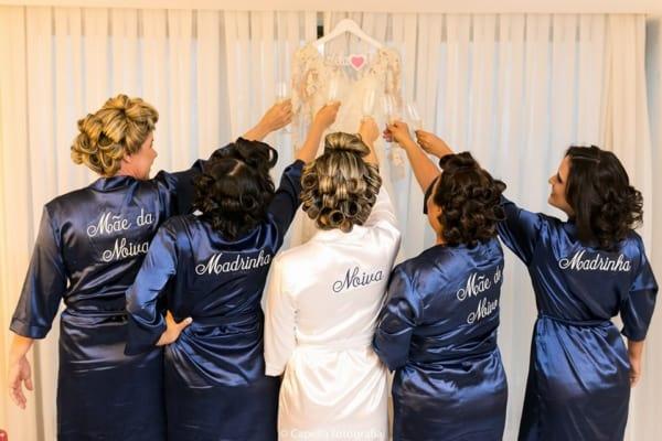 robe da noiva e das madrinhas combinando