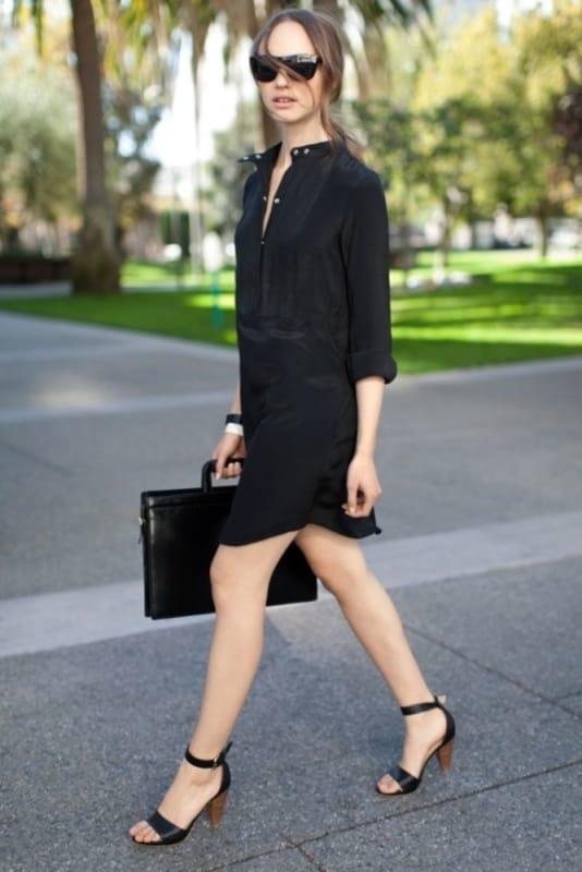 look social com chemise preta