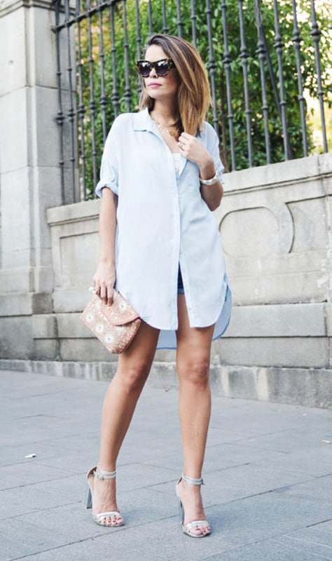 look casual com chemise social