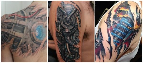 tattoo biomecânica no ombro