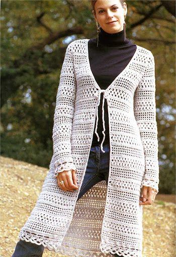 casaco de barbante branco