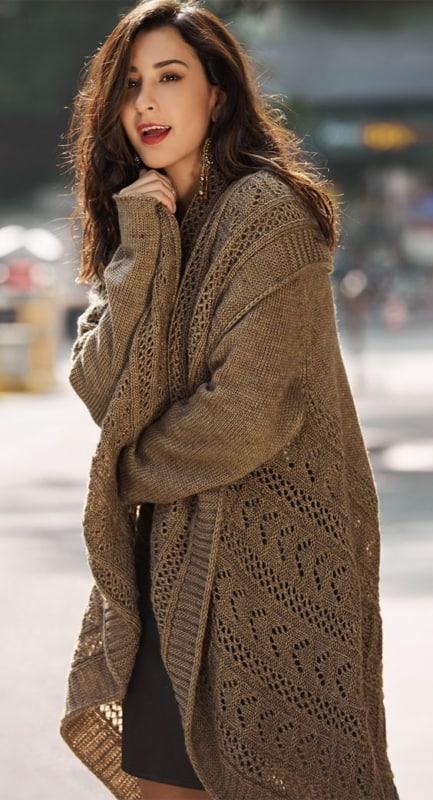 casaco longo de inverno em crochê