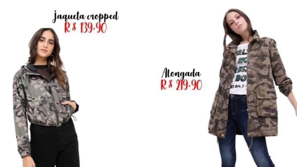 onde comprar jaqueta camuflada feminina
