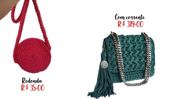 preços e dicas de onde comprar bolsa artesanal fio de malha