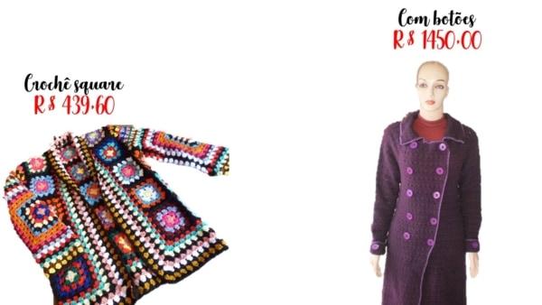 modelos e preços de casaco de crochê