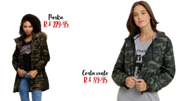 modelos e preços de jaqueta camuflada feminina