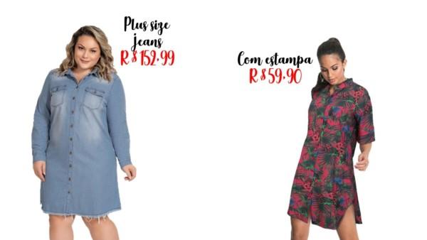 modelos e preços de chemise
