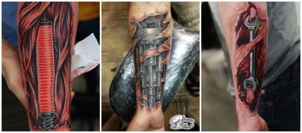 tattoo biomecânica no braço