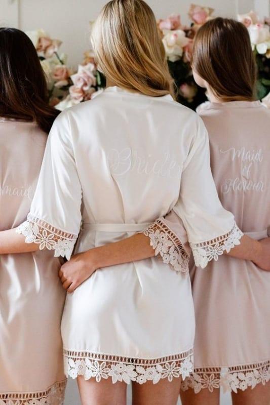kimono com renda para noiva