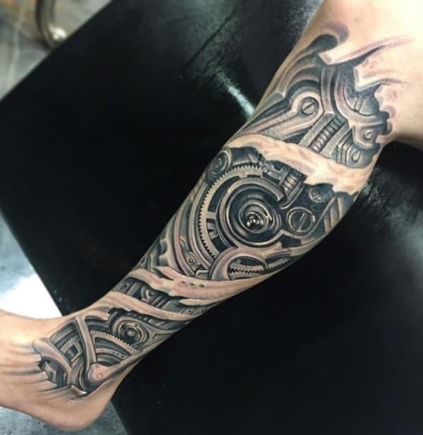 tattoo realista na perna