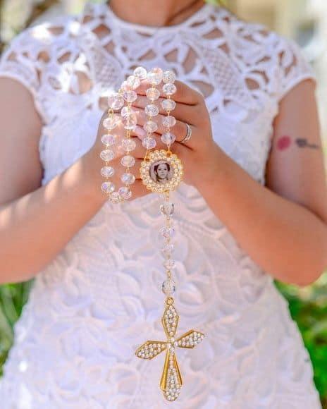 =terço para noiva personalizado com foto